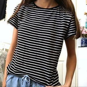 a98e94e4b868 Cotton On Tops - Cotton On Black & White Striped Shirt